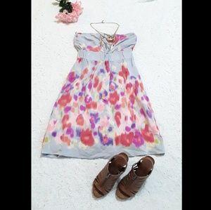 Meabe Anthro Color Splatter Mini Dress